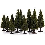 Scale Trees Green Scenery Landscape Model Cedar Trees - 15 Pieces