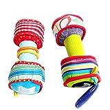 Cutogain Dumbbells, Multifunktionale Babyhantel, Kinderspielzeug, 1 Paar Baby Rainbow Bunte weiche...