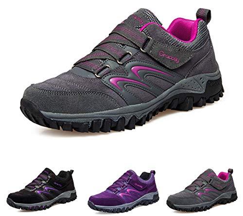 gracosy Scarpe da Passeggio Impermeabili da Donna Scarpe da Escursionismo Arrampicata Stivali Traspirante Allacciatura Antiscivolo Sneakers Outdoor Sports Scarpe Trekking Scarpe da Corsa