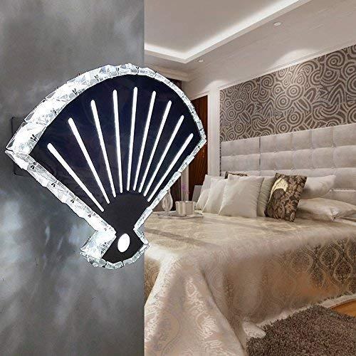 B&D BD Moderne Kristall LED Wandleuchte, Kreative Fan Treppen Gang Wand K9 Kristall Wandleuchte...