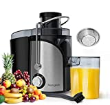 homgeek Juicer, Juicer Machine for Fruits and Vegetables 600W, Extractor Centrifugal Juicer with Wide Mouth, Dual Speed Mode, Anti-Shake Design, BPA-Free [Energy Class A+++]