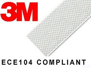 3M High Intensity Reflective Conspicuity Tape, White, 2 Inch Width x 2 Feet