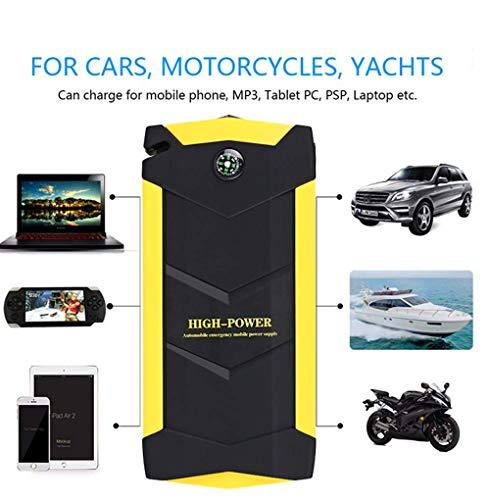 Jackeylove Car Jump Starter 600A Peak 18000mAh (bis zu 6.0L Gas oder 4.0L Dieselmotor) Portable Auto Battery Ladegerät mit 4 USB Charging Outputs mit Luftpumpe