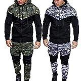 Binggong Herren Shirt,Männer Herbst und Winter Camouflage Schmale Passform Mode Sweatshirt Tops Sport Anzug Sportbekleidung Basic
