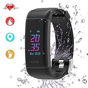 LIDOFIGO Fitness Trackers Farbbildschirm Fitness Armband mit Integriertem GPS & Dynamisc Pulsmesserhe, IP67 Wasserdicht Fitness Armbanduhr mit Herzfrequenz Damen Herren Android IOS