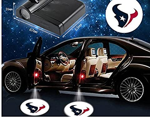 2 pcs NFL Houston Texans LED sans fil Porte de voiture
