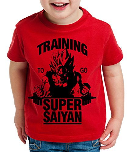 Goku Super Saiyan Son Camiseta para Niños T-Shirt Goku Dragon Master Ball Vegeta Turtle Roshi Db, Farbe2:Rojo;Kinder T-Shirt Größe:122/128