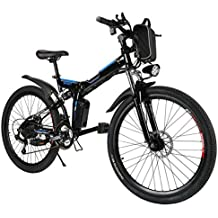 Teamyy Bicicleta Eléctrica Plegable de Montaña con la Batería de Iones de Litio 36V Ruedas de