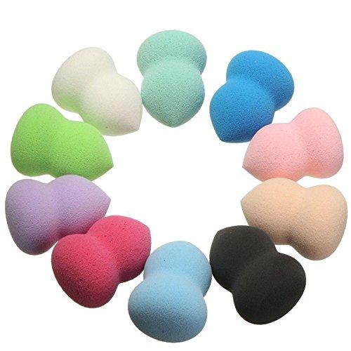 Takestop Juego 2Piezas Esponja Esponja Esponjas Maquillaje Blender maquillaje Viso Make Up Blush Powder Puff Color aleatorio