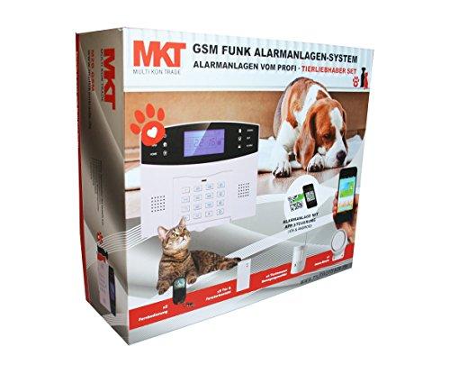 Multi Kon Trade M2B-T4-N Tierimmuner Funk-Alarmanlagen-System M2B GSM Set-4 inkl. umfangreichem Zubehör, 16 Stück