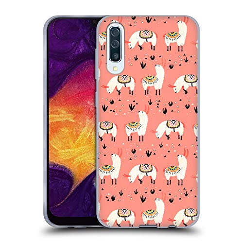 Head Case Designs Offizielle Lidiebug Weisses Lama 3 Tiermuster Soft Gel Huelle kompatibel mit Samsung Galaxy A50 (2019)