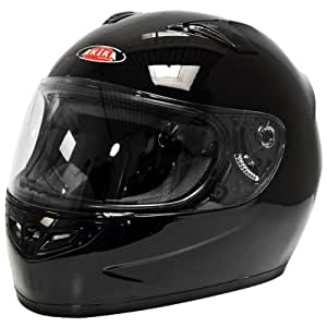 Akira Casque Moto Intégral Sapporo Motif, Noir Brillant, L