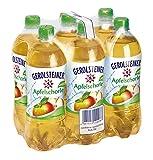 Gerolsteiner Apfelschorle mit 50% Fruchtgehalt/Natürliches Mineralwasser mit prickelnder Kohlensäure, kombiniert mit leckerem Apfelsaft/6 x 0,75 L PET Einweg Flaschen