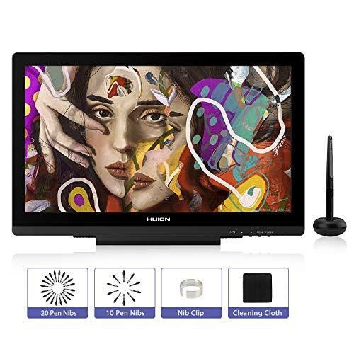 HUION Tableta gráfica con Pantalla, KAMVAS GT-191 V2 Monitor de Dibujo Gráfico con Pantalla de Vidrio Antideslumbrante, lápiz sin Batería, 100% sRGB, Pantalla con Lápiz con Soporte (GT-191 V2)
