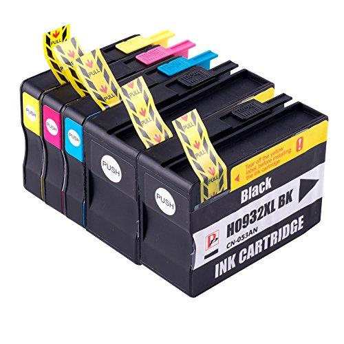 PerfectPrint - 5PerfectPrint cartucho de tinta compatible reemplazar 932X L 933X L para HP OfficeJet 711076107612