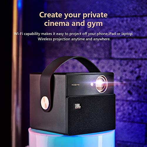 XGIMI CC Aurora Dark Knight 3D LED DLP Home Projector  Built in 20000 mAh Battery and JBL Speaker  Support 1080P 4K  Bonus Exquisite Carry Bag