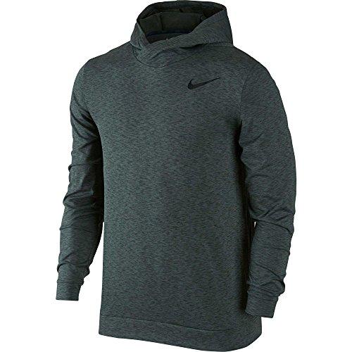 Nike Herren M Nk Breathe Top Ls Hoodie Hyper Dry Kapuzenpullover Vintage Grün/Outdoor grün/Schwarz