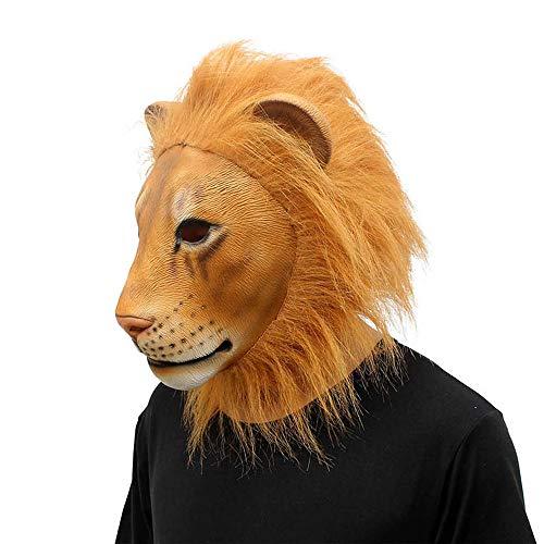 (Tianya - Lion- Löwenmaske | Latex-Kostüm | Sammlerstück | Tiermaske-Spielzeug | Für Cosplay |)