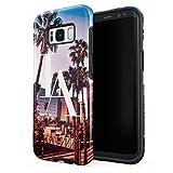 Coque House Étui pour Samsung Galaxy S8 Plus LA Los Angeles City Of Angels California Palms Beach Summer Tumblr Case enveloppe de protection hybride double-couche PC dur résistante aux chocs + TPU...