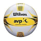 Wilson Ballon de Beach-volley, Extérieur, Utilisation Récréative, Taille Officielle, AVP II RECREATIONAL , Jaune/Blanc, WTH6207XB