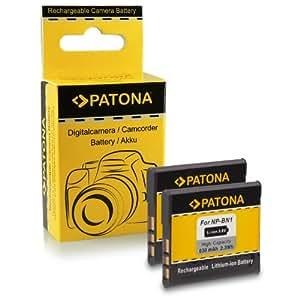 2x Batterie NP-BN1 pour Sony CyberShot DSC-W310, DSC-W320, DSC-W330, DSC-W350, DSC-W360, DSC-W380, DSC-W390, DSC-W510, DSC-W520, DSC-W530, DSC-T99, DSC-T110, DSC-TF1, DSC-TX5, DSC-TX7, DSC-TX9, DSC-TX10, DSC-TX20, DSC-TX30, DSC-TX55, DSC-TX100V, DSC-WX5, DSC-WX7, DSC-WX9, DSC-WX50 et bien plus encore…