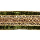 Katherine de la Collection Vert en Velours épicée Ruban Paillette 6Centimetre X 4,6m