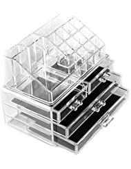 Cosmétiques Acrylique Clair Organisateur 20 Sections à Tiroirs