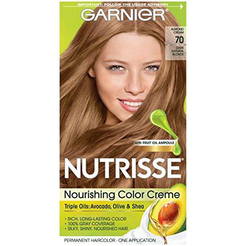 Garnier Crème colorante Nutrisse Cream - Une couleur exceptionnellement riche et durable - Enrichie d'huiles d'avocat et de pépins de raisin - 70 Amandine (Blond naturel foncé)