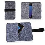 Filz Tasche für Smartphone Cover Hülle Case Schutzhülle
