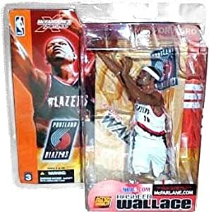 McFarlane Toys NBA Sports Picks Series 3 Action Figure Rasheed Wallace (Portland Trailblazer) White Jersey Variant by McFarlane Toys