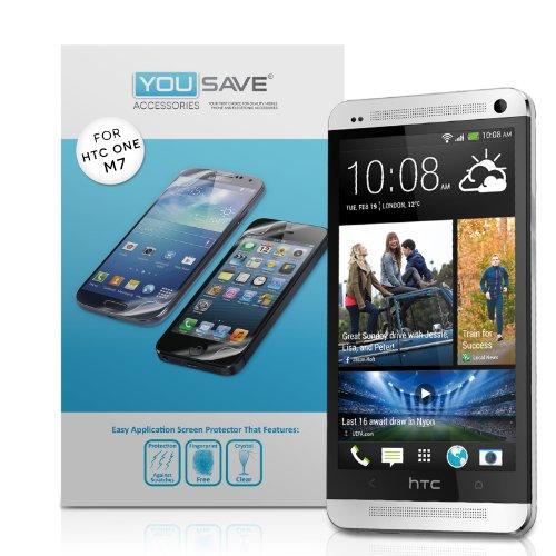 Foto HTC One M7 Pellicola Protezione Schermo Confezione Da 3 Con Panno Microfibra Lucidante