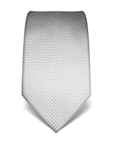 Vincenzo Boretti Herren Krawatte reine Seide Hahnentritt Muster edel Männer-Design gebunden zum Hemd mit Anzug für Business Hochzeit 8 cm schmal/breit grau
