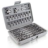 BITUXX® Bitsatz 100 teilig Werkzeugkoffer Sechskant Vielzahn Torx Innen Inbus Steck Nüsse Bits Bit Set