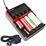 18650 Battery Charger Universal 4 Bay AA AAA C, Ni-MH Ni-Cd And 10440 18650 26650 Etc. Li-ion LiFePO4 Rechargeable Battery Charger With LCD Display H4
