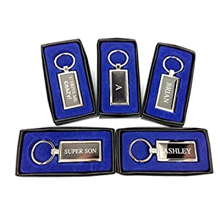 Personalised Mens Name Keyring Key Chain Gift Boxed - Initial A/Aaron/Adam/Adrian/Alan/Alex/Alistair/Allan/Andrew/Andy/Anthony/Ashley/Initial B/Barry/Ben/Bill/Bob/Bradley/Brian (Adrian)