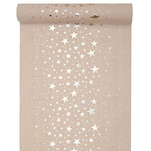 it Sternen Metallic 28 cm x 3 m - Weihnachten Tischdekoration (Metallic-tischdecke)