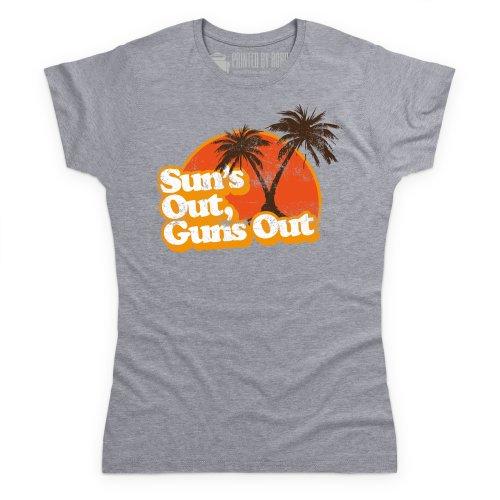 Sun's Out T-Shirt, Damen Grau Meliert