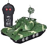 Prevently 1:22 RC Car Fernbedienung Tank Robustes Ferngesteuertes Auto mit Fernsteuerung Militärischer Panzer Spielt LED-Licht 360 ° Weihnachten Geschenk für Kinder (Green)