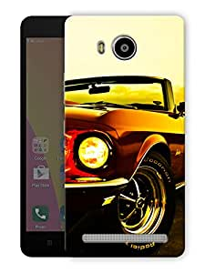 "Humor Gang vintage convertible car Printed Designer Mobile Back Cover For ""Lenovo A7700"" (3D, Matte Finish, Premium Quality, Protective Snap On Slim Hard Phone Case, Multi Color)"