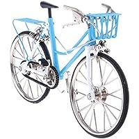 IPOTCH 1:10 Miniatura Bicicleta de Metal Modelo de Réplica Decoración de Mesa de Casa Oficina - Azul