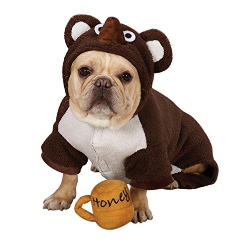 Zack & Zoey Hundekostüm Lil Honey Bär, Polyester, Größe S, Braun