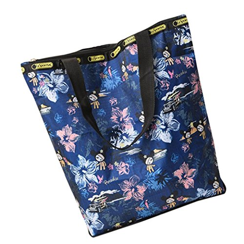 BZLine® Frauen Leinwand Große Kapazitäts-Segeltuch-Strand-Tasche Handtasche Q