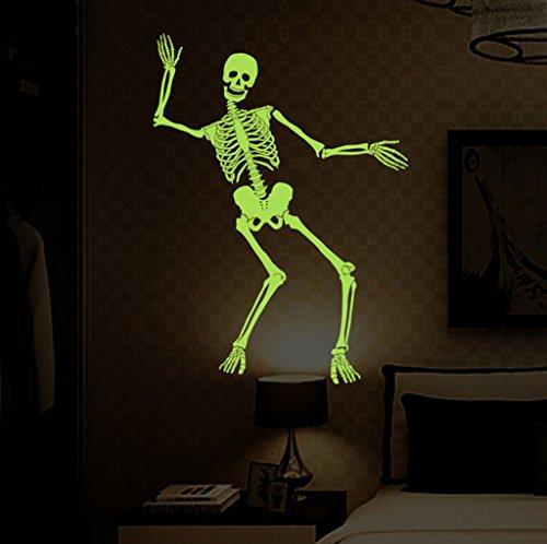 uchtende Skelett Skelett Tanz Spuk Haus Bar Dekoration Wandaufkleber (Beste Halloween-zitate Und Sprüche)