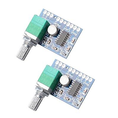 Muzoct 2pcs Super Mini Pam8403 3W + 3W 5V Audio Ampli Amplificateur Numérique Board Support Alimenté par USB à Deux Canaux Stéréo Amp avec Interrupteur Potentionmeter par MUZOCT