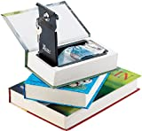 Xcase Kinder Tresor: Buchtresor 3er-Set: Stahltresore getarnt als Bücher (echtes Papier) (Geheimfach)