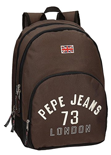 Pepe Jeans Mochila Adaptable a Carro, Diseño Kanoa, Color Marrón, 30.98 litros