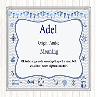 Adel Name Meaning Drinks Mat Coaster Nautical