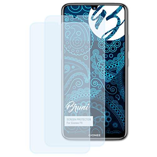 Bruni Schutzfolie kompatibel mit Gionee F9 Folie, glasklare Bildschirmschutzfolie (2X)