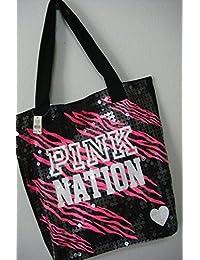 Victoria Secret rosa Nation Tote Bolsa de la compra lentejuelas bolso nuevo