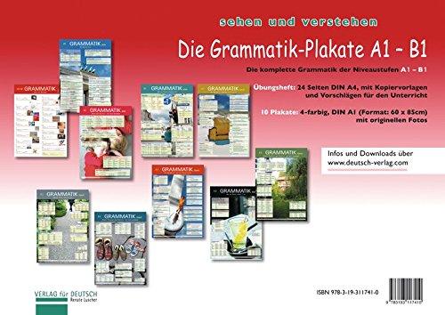 (Die Grammatik-Plakate A1-B1: Übungsheft und 10 Plakate)